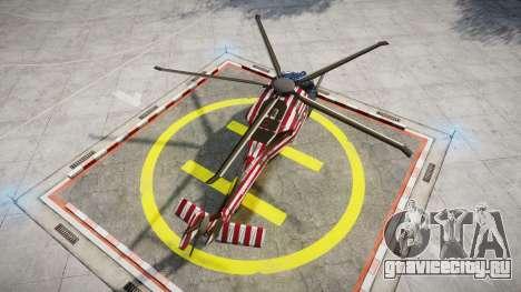 Sikorsky MH-X Silent Hawk [EPM] Freedom для GTA 4 вид сзади слева