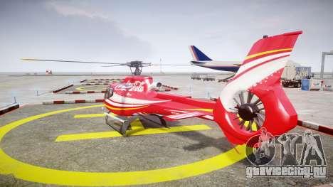 Eurocopter EC130 B4 Coca-Cola для GTA 4 вид сзади слева