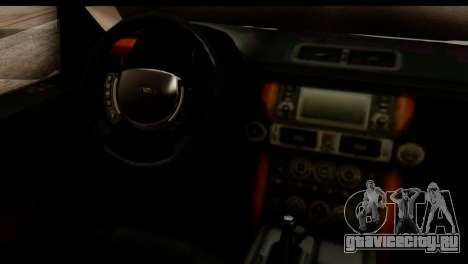 Land Rover ДПС для GTA San Andreas вид изнутри