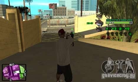 C-HUD Ghetto 4ever для GTA San Andreas второй скриншот