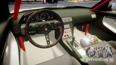Nissan 240SX Sil80 MikeMasse Edition для GTA 4 вид изнутри