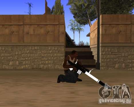 White Chrome Gun Pack для GTA San Andreas одинадцатый скриншот