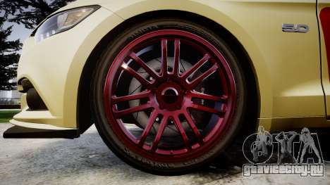 Ford Mustang GT 2015 Custom Kit red stripes для GTA 4 вид сзади