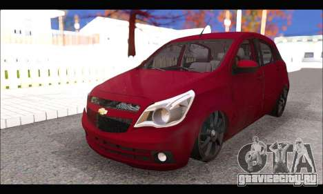 Chevrolet Agile Tunning для GTA San Andreas вид справа