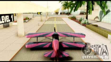 Beta Stuntplane для GTA San Andreas вид изнутри