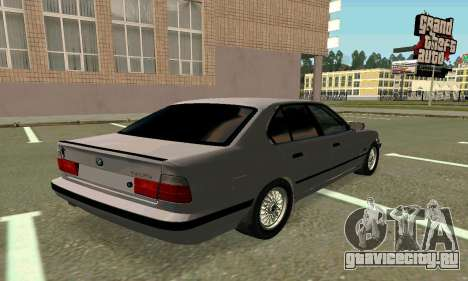 BMW 525 Turbo для GTA San Andreas вид сзади слева