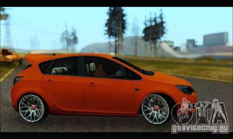 Opel Astra J для GTA San Andreas вид сзади слева