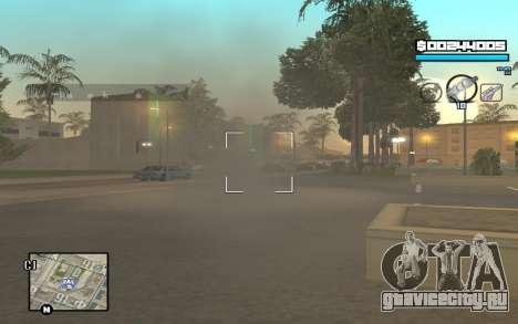 Blue C-HUD для GTA San Andreas