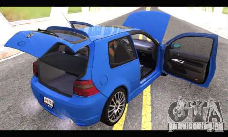 VW Golf R32 - Stock для GTA San Andreas вид сзади