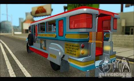 Jeepney Legacy для GTA San Andreas вид справа