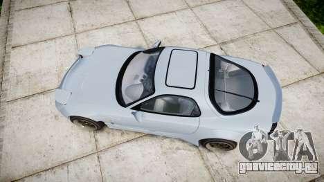 Mazda RX-7 RocketBunny для GTA 4 вид справа