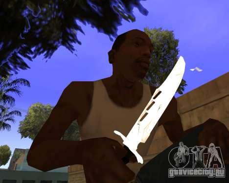 White Chrome Gun Pack для GTA San Andreas двенадцатый скриншот