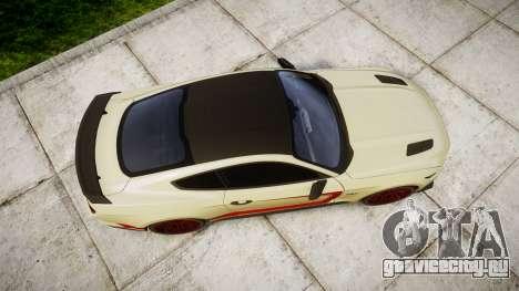 Ford Mustang GT 2015 Custom Kit red stripes для GTA 4 вид справа