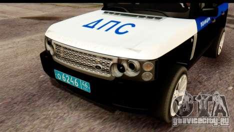 Land Rover ДПС для GTA San Andreas вид справа