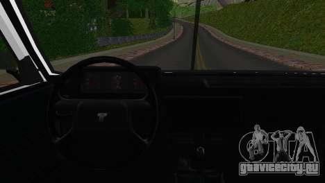 Tofas Sahin для GTA San Andreas вид сзади слева
