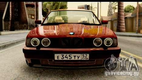 BMW 525i E34 для GTA San Andreas вид сзади