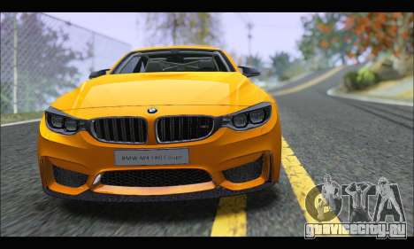 BMW M4 F80 Coupe 1.0 2014 для GTA San Andreas вид сзади слева