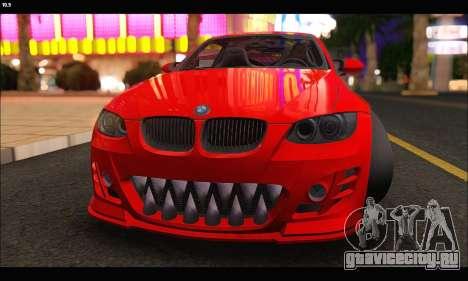 BMW M3 GTS 2010 для GTA San Andreas вид изнутри