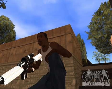 White Chrome Gun Pack для GTA San Andreas девятый скриншот