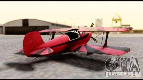 Beta Stuntplane для GTA San Andreas вид слева