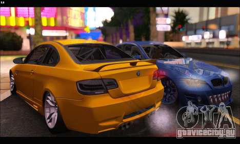 BMW M3 GTS 2010 для GTA San Andreas вид сзади слева
