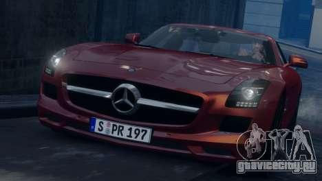 Mercedes-Benz SLS AMG 2011 [EPM] для GTA 4 вид изнутри