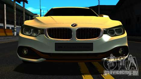 BMW 4-series F32 Coupe 2014 Vossen CV5 V1.0 для GTA San Andreas вид изнутри
