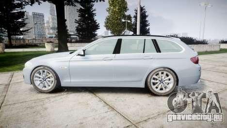 BMW 525d F11 2014 Facelift [ELS] Unmarked для GTA 4 вид слева