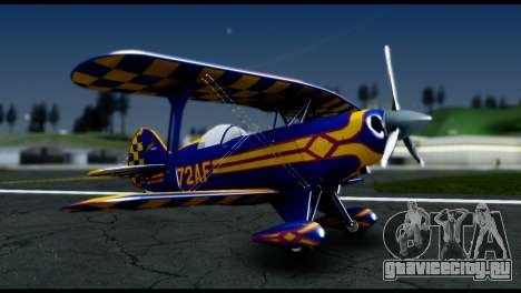 Alabeo PITTS S2S Blue для GTA San Andreas вид сзади слева