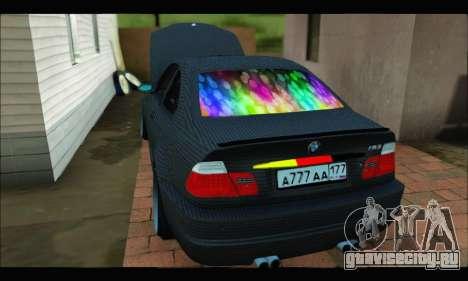 BMW M3 E46 Carbon для GTA San Andreas вид сзади слева