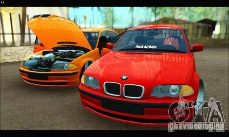BMW e46 Sedan для GTA San Andreas вид сбоку