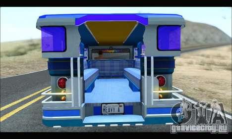 Light Jeepney для GTA San Andreas вид сзади