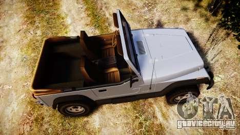 Jeep Wrangler 1988 для GTA 4 вид справа