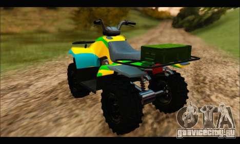 ATV Color Camo Army Edition для GTA San Andreas вид слева