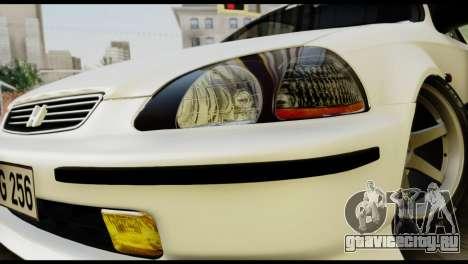 Honda Civic 1.4 Mehmet ALAN для GTA San Andreas вид сзади