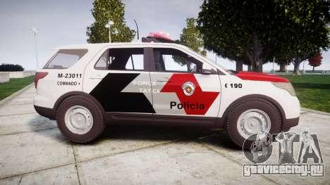 Ford Explorer 2013 Police Forca Tatica [ELS] для GTA 4 вид слева