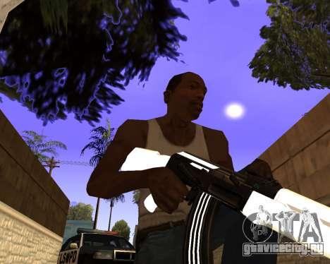 White Chrome Gun Pack для GTA San Andreas