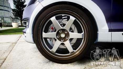 Audi Q7 2009 ABT Sportsline [Update] rims1 для GTA 4 вид сзади