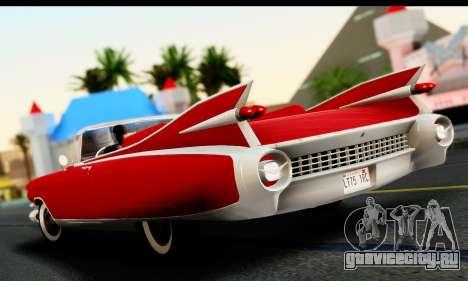 Cadillac Eldorado Biarritz Convertible 1959 для GTA San Andreas вид слева