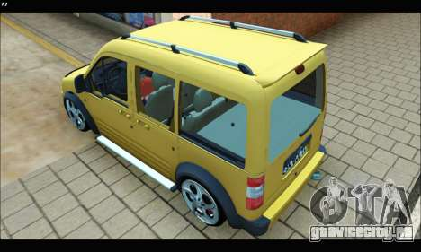 Ford Transit Connect для GTA San Andreas вид сзади слева