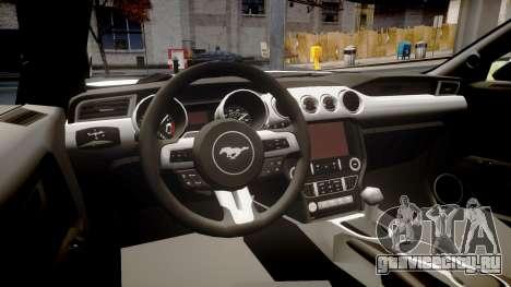 Ford Mustang GT 2015 Custom Kit black stripes gt для GTA 4 вид изнутри
