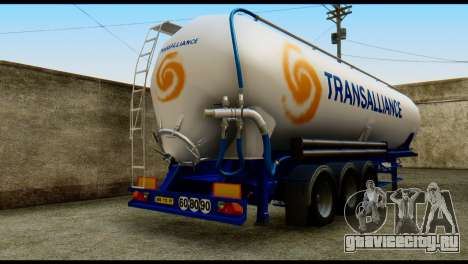 Mercedes-Benz Actros Trailer Transalliance для GTA San Andreas вид слева