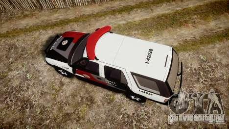 Chevrolet Blazer 2010 Tactical Force [ELS] для GTA 4 вид справа