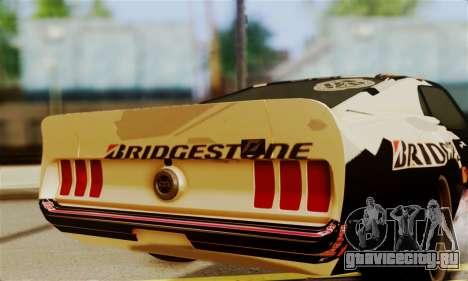 Ford Mustang RTR RedBull для GTA San Andreas вид справа