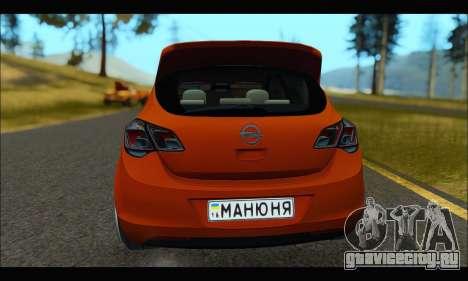 Opel Astra J для GTA San Andreas вид сзади