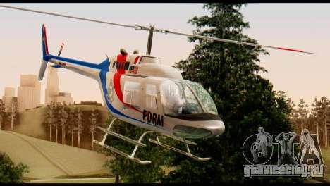 Malaysian Polis Helicopter Eurocopter Squirrel для GTA San Andreas вид справа