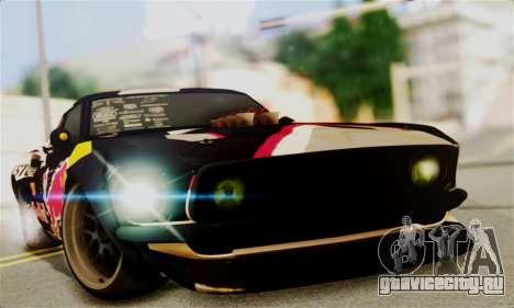 Ford Mustang RTR RedBull для GTA San Andreas вид сзади слева