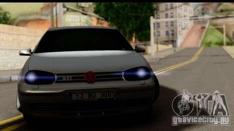 Volkswagen Golf 4 Tuning для GTA San Andreas вид сзади слева