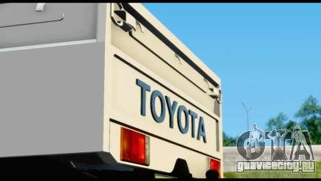 Toyota Land Cruiser Macho Pick-Up 2007 4.500 для GTA San Andreas вид изнутри