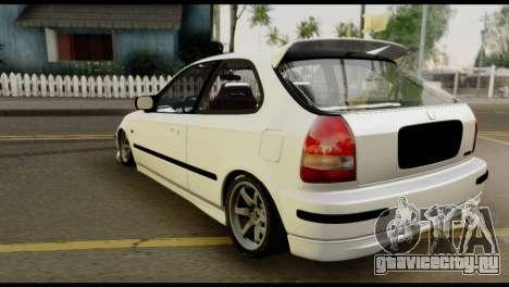 Honda Civic 1.4 Mehmet ALAN для GTA San Andreas вид слева